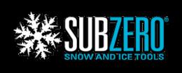 SubZero Snow and Ice Tools Blue and White Logo